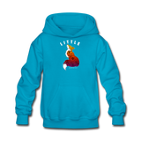 Youth Hoodie : Little Fox - turquoise