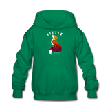 Youth Hoodie : Little Fox - kelly green