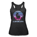 Women's Tri-Blend Racerback Tank : Llamacorn - heather black; funny llamacorn shirt, cute llamacorn shirt, magical llamacorn shirt, majestic llamacorn shirt, awkward llamacorn shirt, funny llama t-shirt, cute llama t-shirt, magical llama t-shirt, majestic llama t-shirt, awkward llama t-shirt, funny unicorn tank top, cute unicorn tank top, magical unicorn tank top, majestic unicorn tank top, awkward unicorn tank top