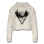 Women's Cropped Hoodie : Yosemite Line Art & John Muir Forest Quote - dust; Yosemite sweatshirt, John Muir forest quote sweatshirt