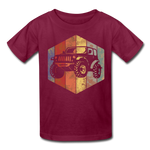 Youth T-Shirt : Rainbow Jeep - burgundy; Jeep t-shirt, Jeep Shirt, Jeep T, Jeep Girl shirt, Jeep Girl t-shirt, Overland Jeep Shirt, Overland Jeep T-Shirt, Rainbow Jeep T-Shirt, Rainbow Jeep Shirt, Jeep Lover Shirt, Jeep Lover T-Shirt