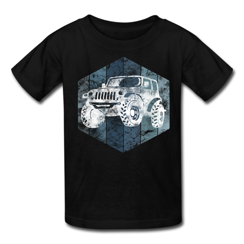 Youth T-Shirt : Blue & White Jeep - black; Jeep t-shirt, Jeep Shirt, Jeep T, Jeep Girl shirt, Jeep Girl t-shirt, Overland Jeep Shirt, Overland Jeep T-Shirt, Blue and White Jeep T-Shirt, Blue and White Jeep Shirt, Jeep Lover Shirt, Jeep Lover T-Shirt