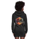 Women's Hoodie Dress : Rainbow Jeep - heather black; Jeep Hoodie dress, Jeep Hoodie dress, Jeep Sweatshirt dress, Jeep Girl Sweatshirt dress, Jeep Girl Hoodie dress, Overland Jeep Sweatshirt dress, Overland Jeep Hoodie dress, Rainbow Jeep Sweatshirt dress, Rainbow Jeep Hoodie dress, Jeep Lover Sweatshirt dress, Jeep Lover Hoodie dress