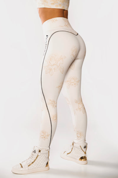 Gold Rose Tights
