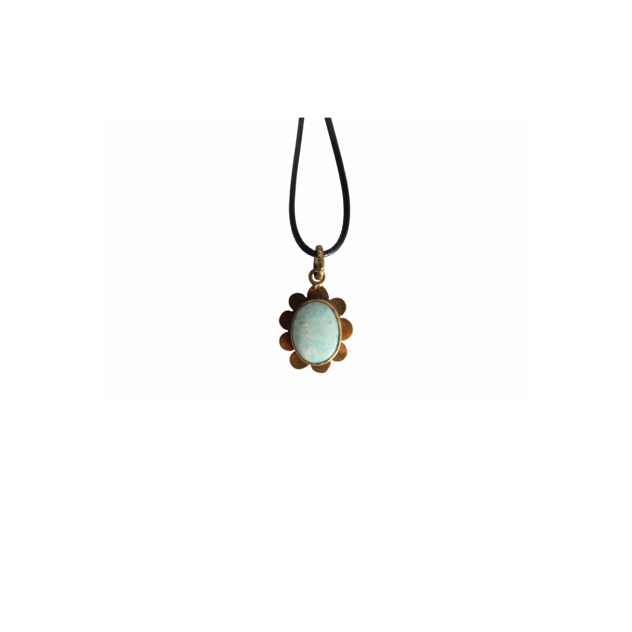 Amazonite Flower Necklace