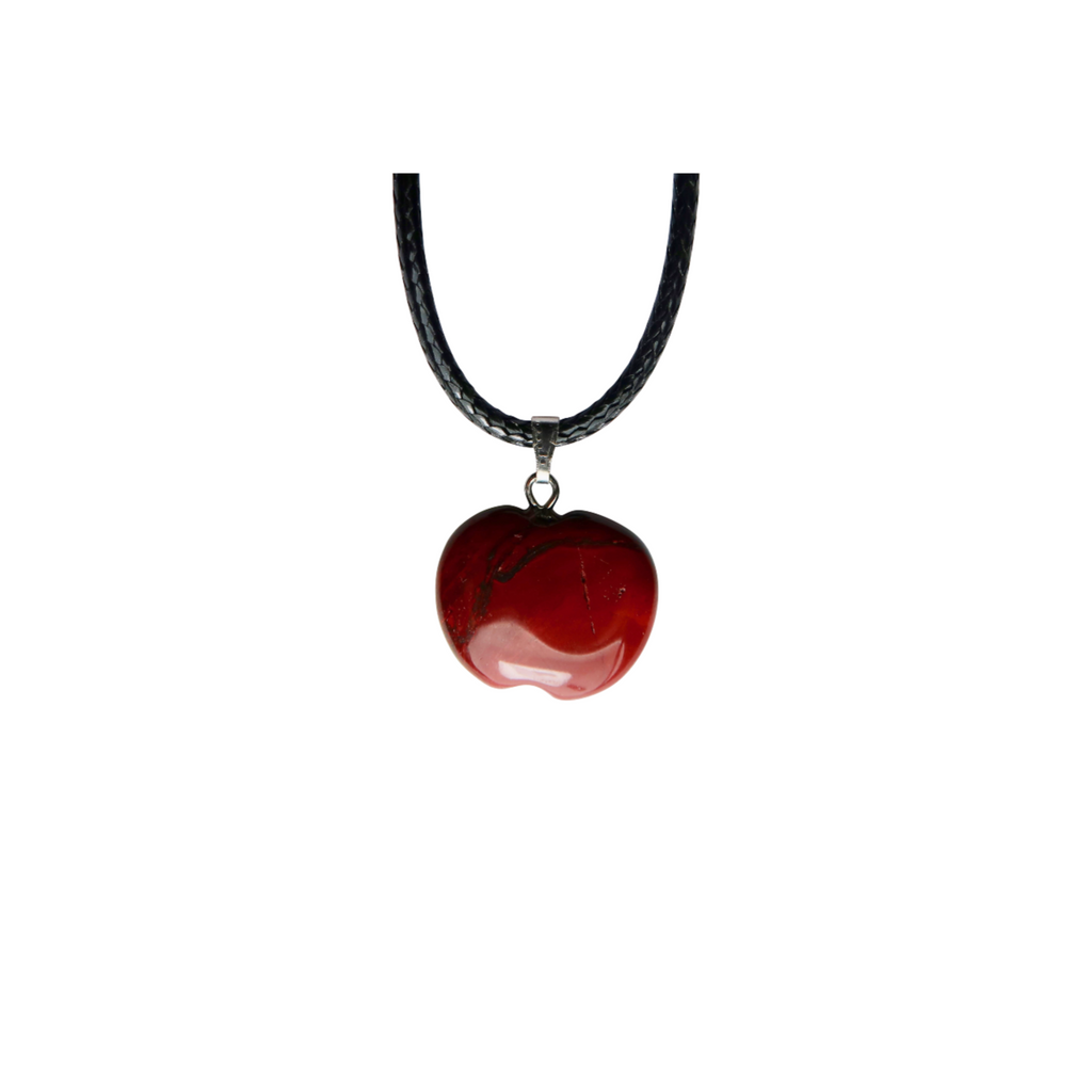 Red Jasper Apple Necklace