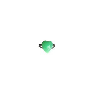 Chrysoprase Heart Ring