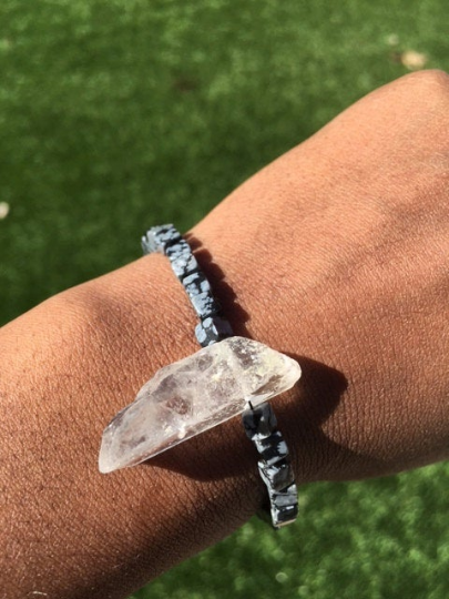 Ground and Clear Bracelet