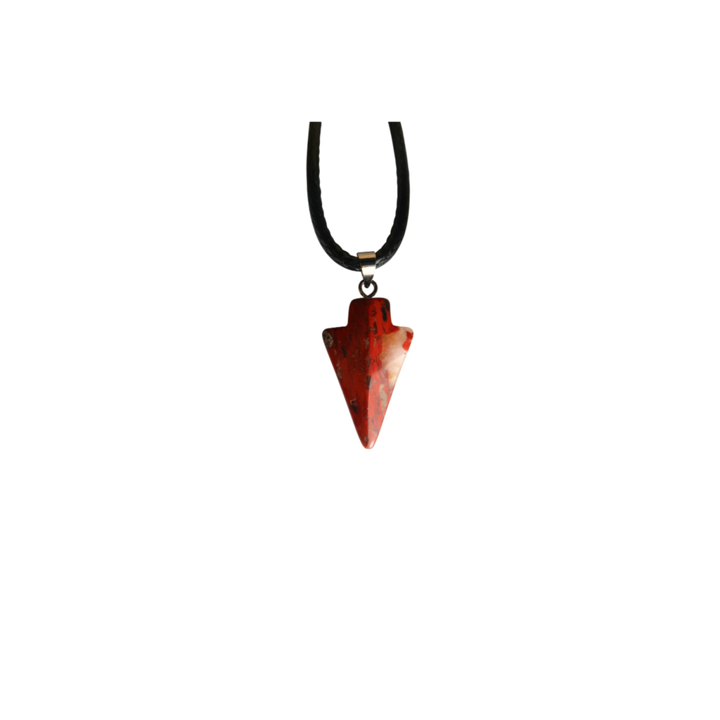Red Jasper Arrowhead Necklace