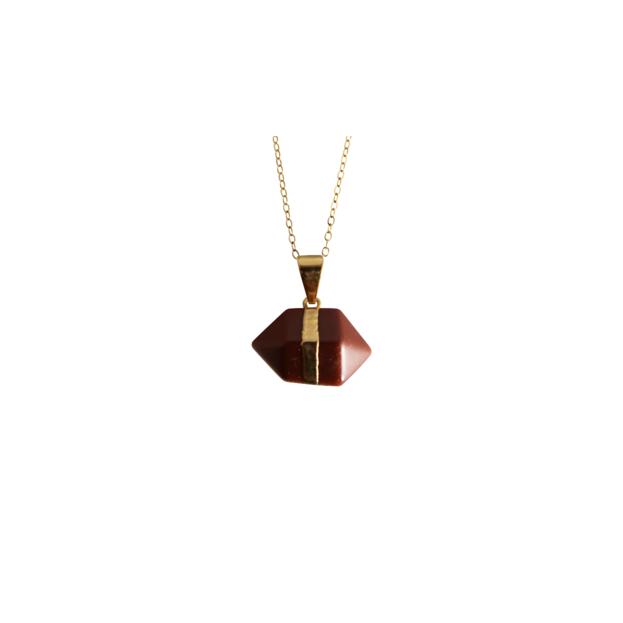 Double Terminated Red Goldstone Necklace