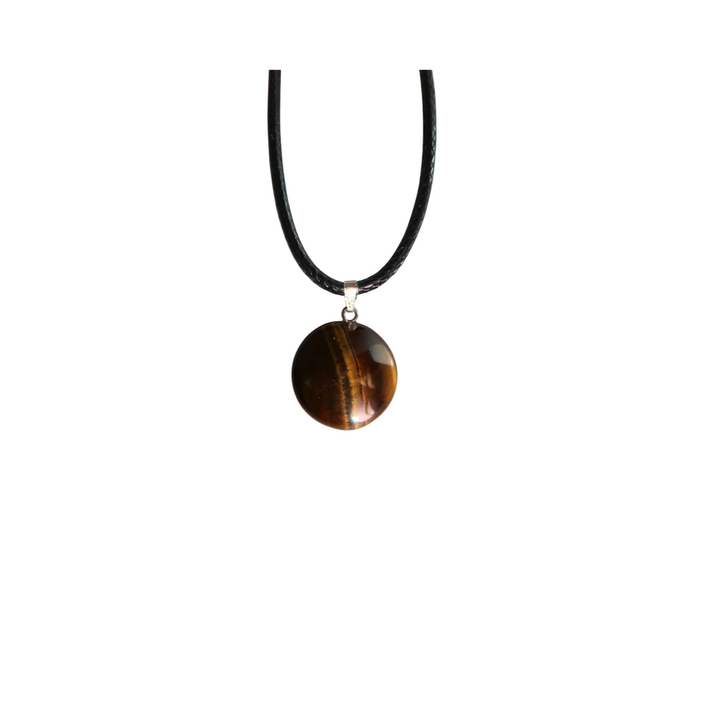 Round Tiger's Eye Necklace