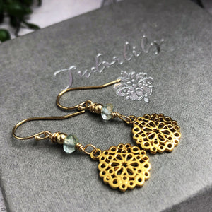 Aquamarine Goldfill Earrings