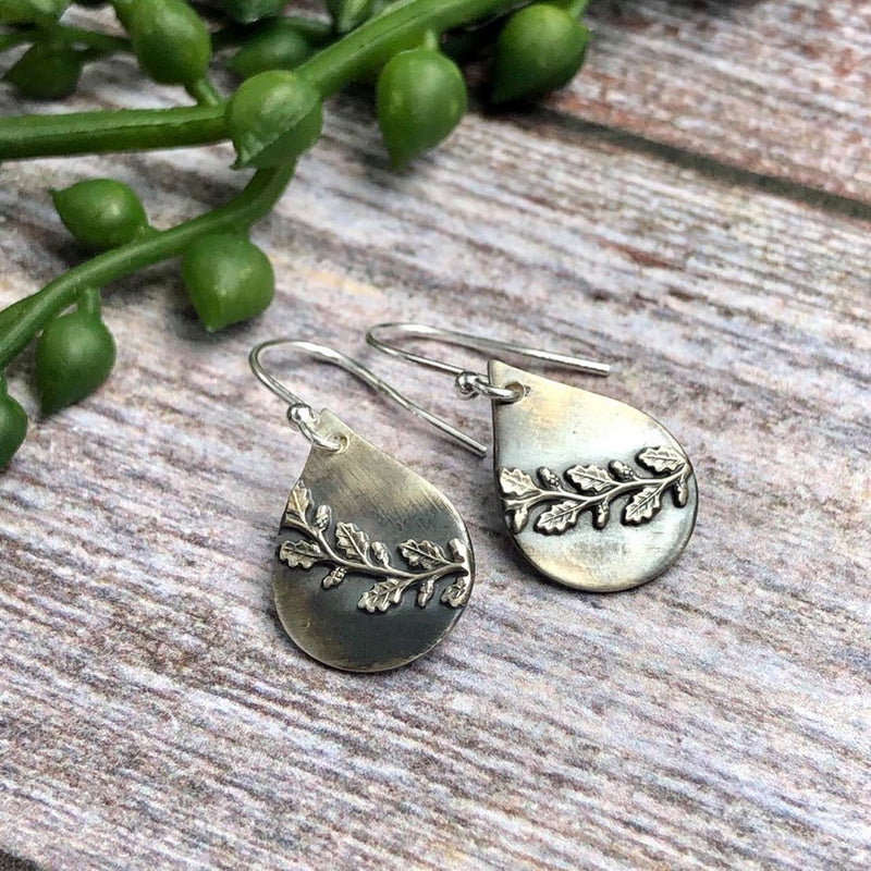 Antiqued Teardrop Earrings