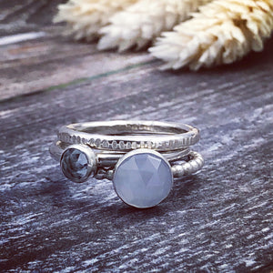 Aquamarine & Blue Chalcedony Rings