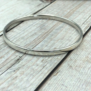 Sterling Oval Bangle