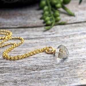 Trillion Rock Crystal Necklace