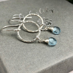 Aquamarine Sterling Earrings