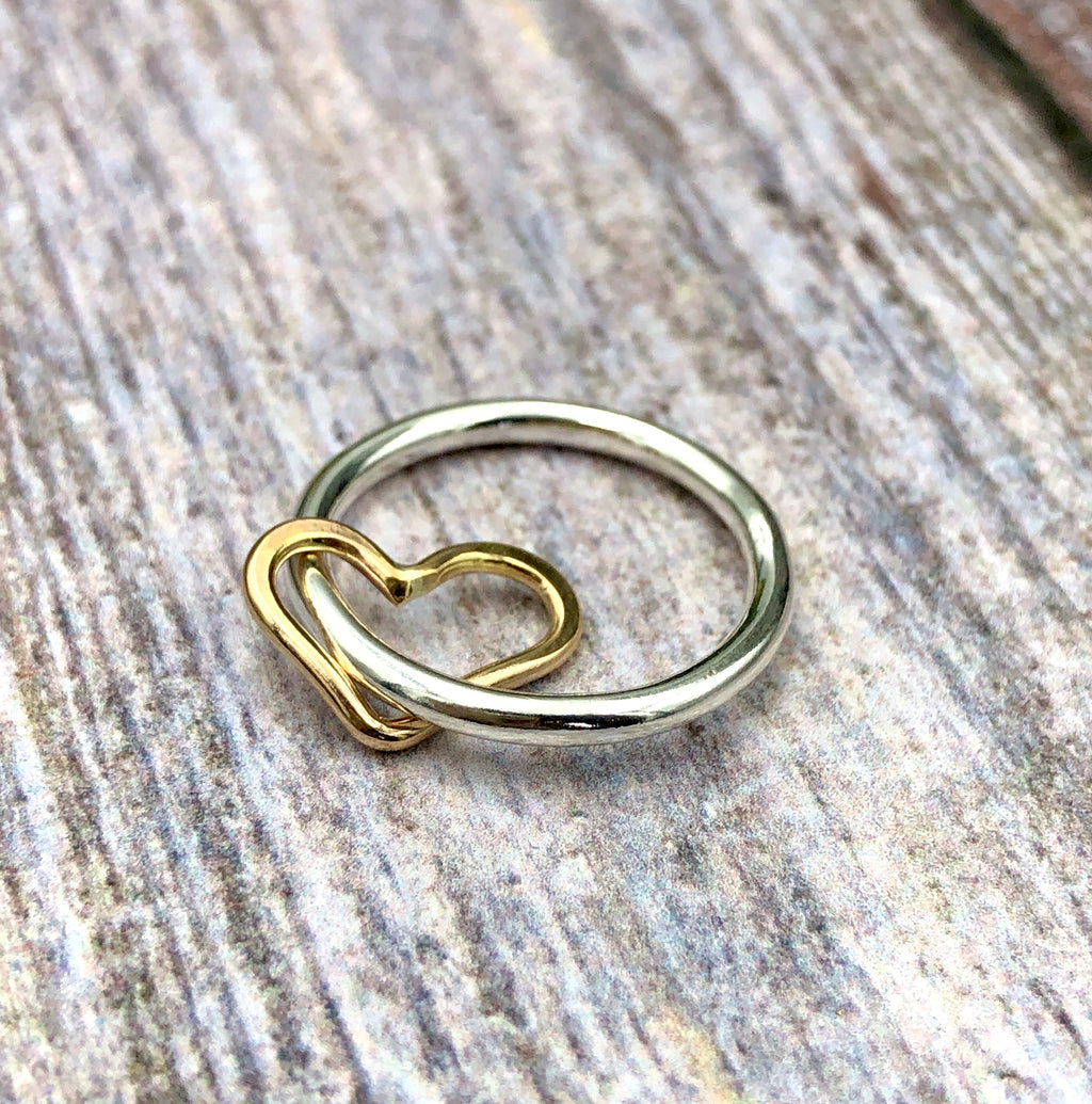 Floating Heart Ring