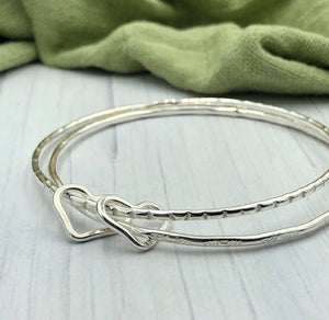 Two Hearts Bangle - Ready Now
