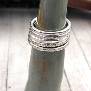 Bronte Patterned Stacking Rings