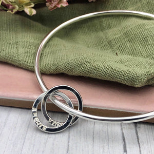 Bangle with Name Rings x 3
