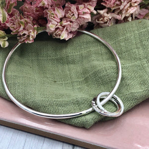 Bangle with Name Rings x 2