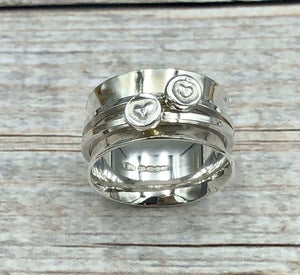 Just You and Me Spinner Ring Size 0