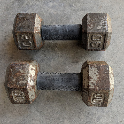 Genie grips on dumbbells are the way to go!