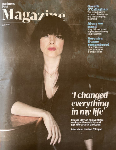 Business Post Magazine By Leahy Bespoke Handwriting Signature Envelope Necklace 9ct Gold Imelda May Cover
