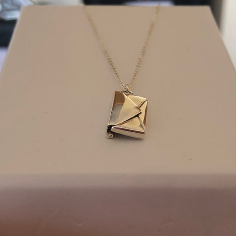 By Leahy Blog from the bench Signature Envelope Necklace sterling silver