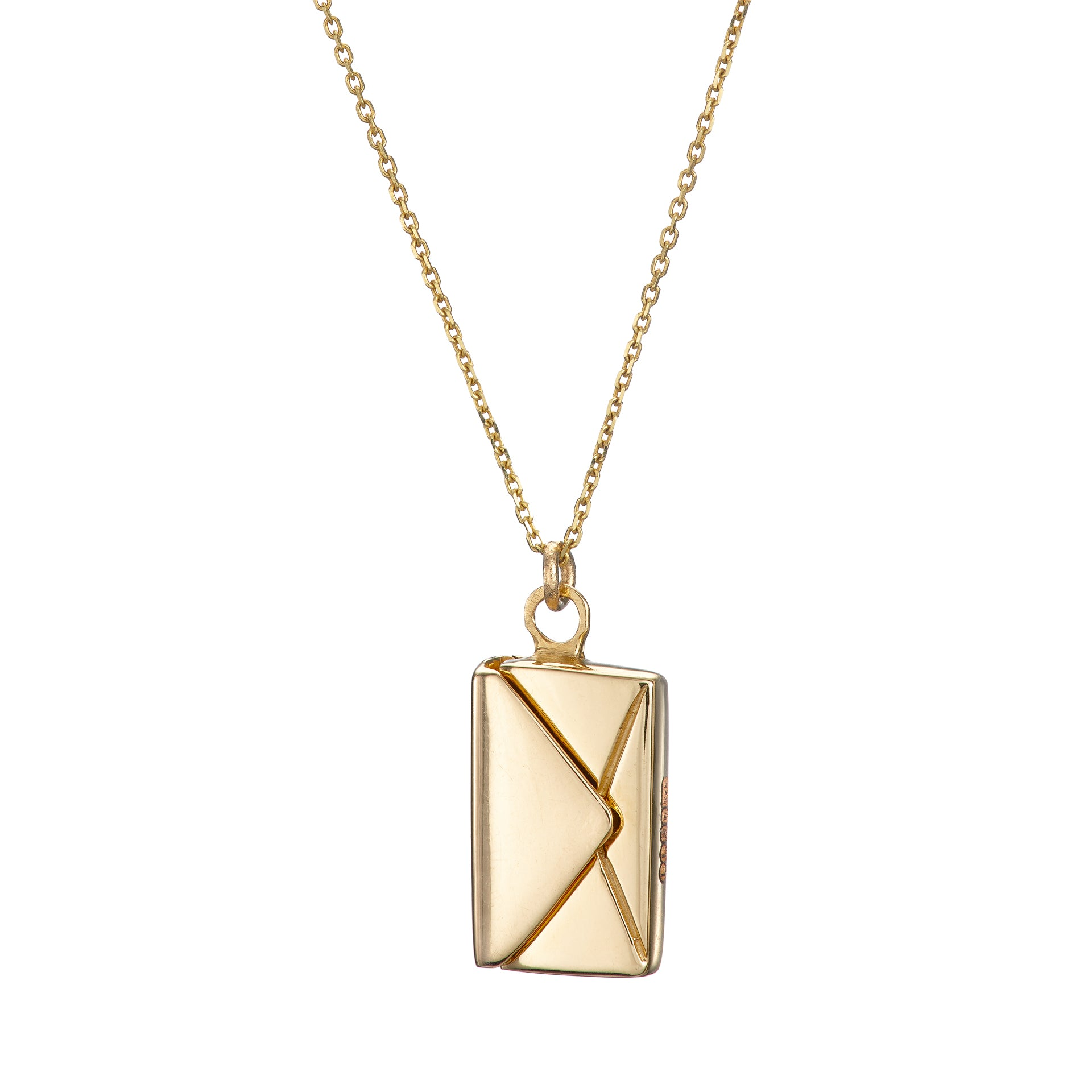 Bespoke Signature Envelope Necklace - 18ct Gold