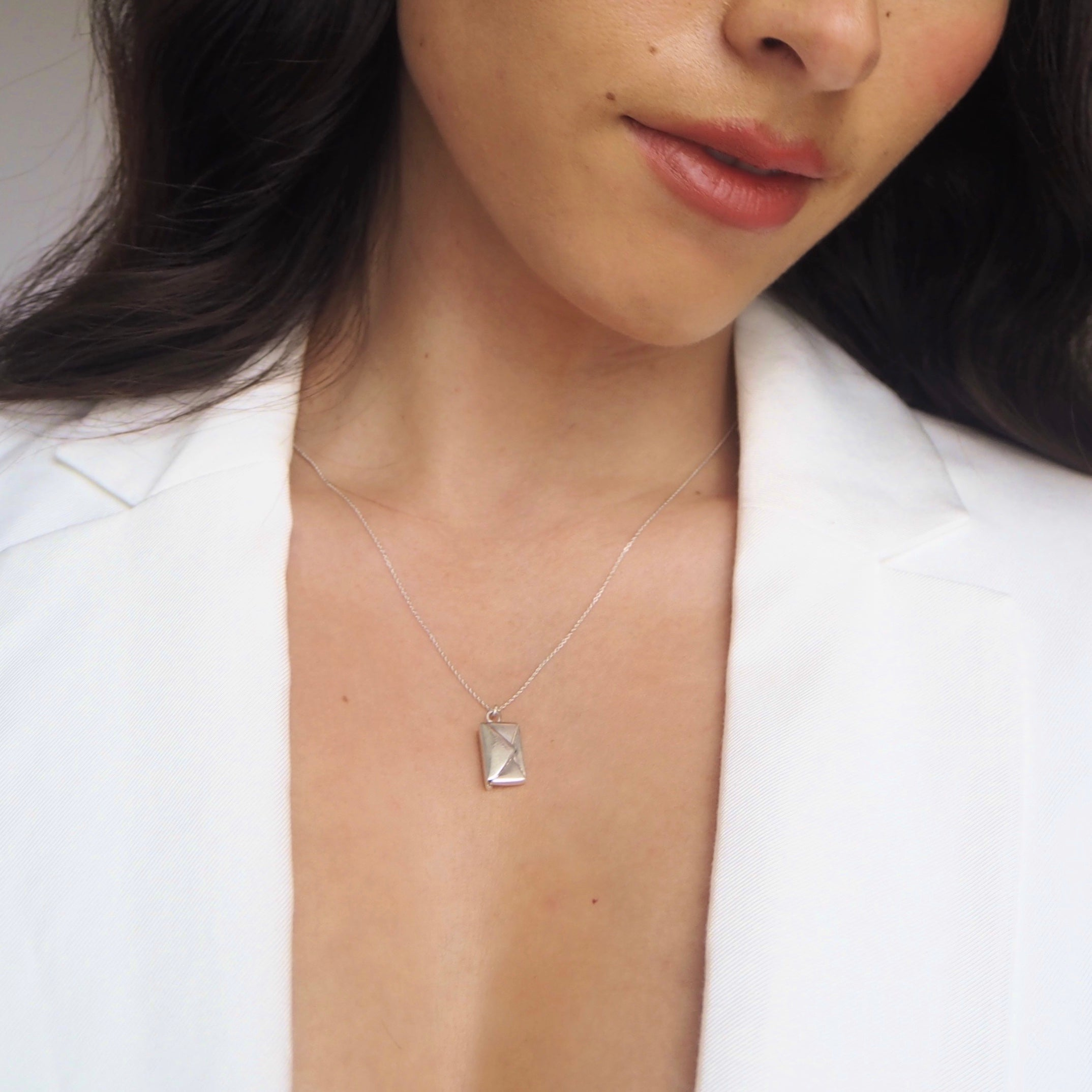 'I love you' Signature Envelope Necklace