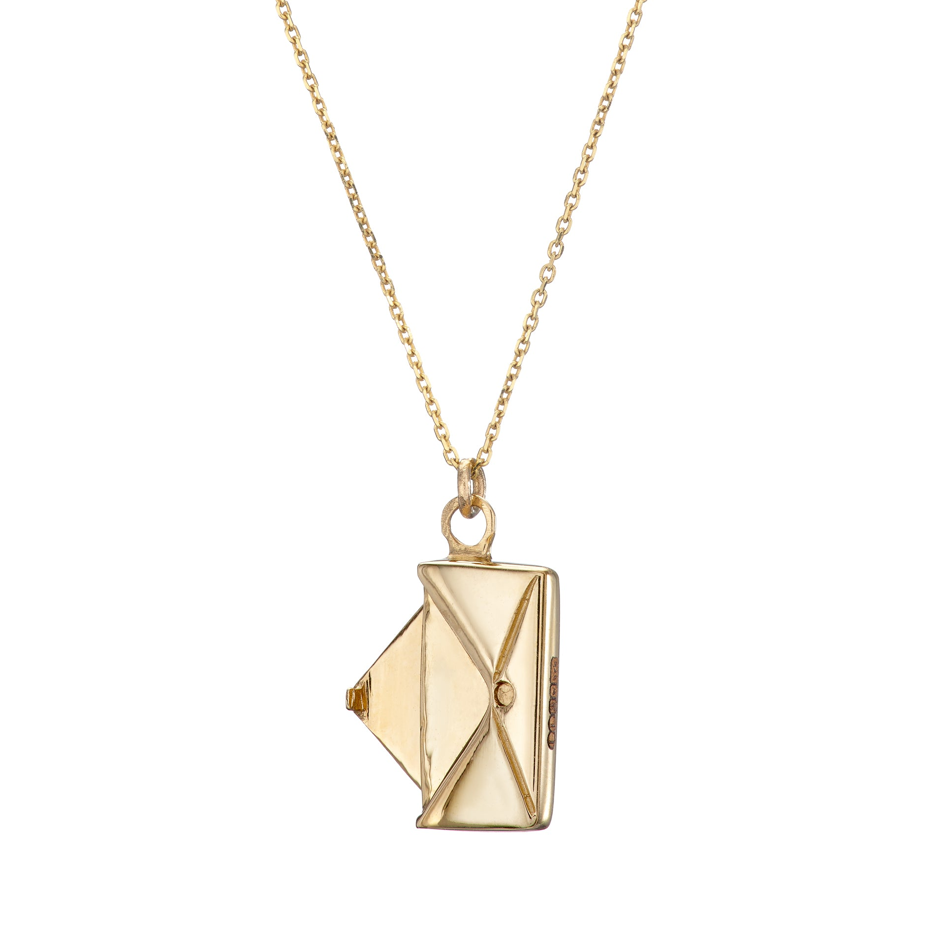 Signature Envelope Necklace - 9ct Gold