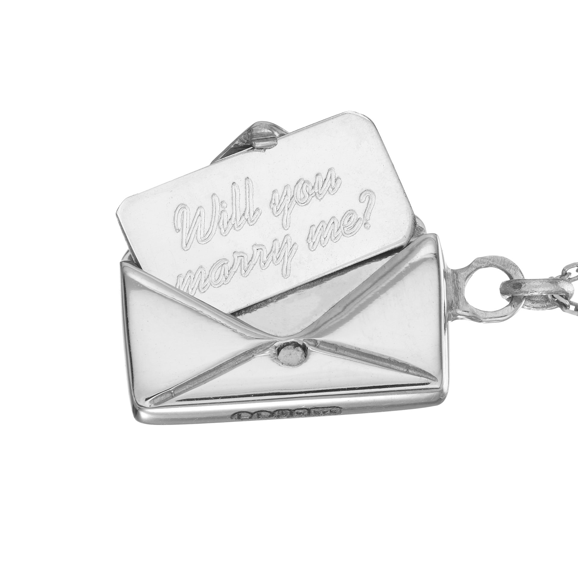 'Will you marry me?' Signature Envelope Necklace