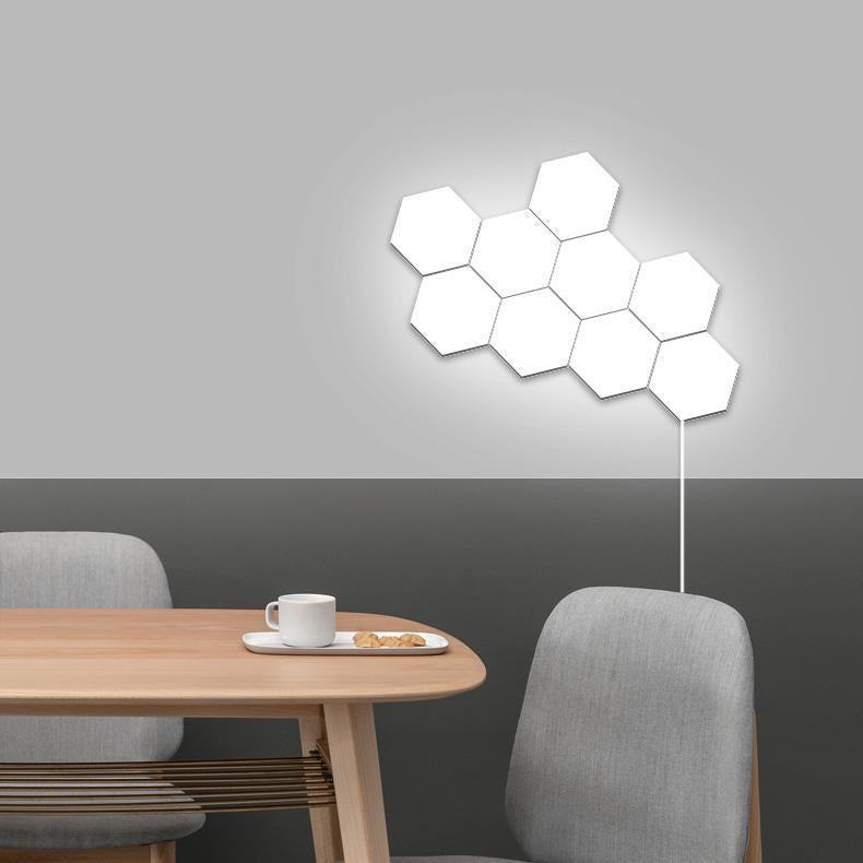 Creative touch honeycomb stitching wall light