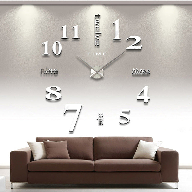 Creative Modern 3D Sticker Wall Clock