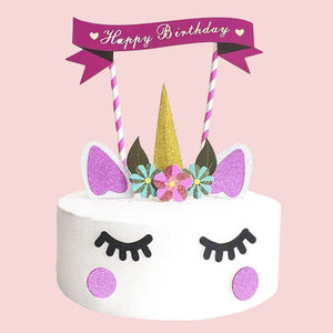 Handmade Unicorn Cake Decoration