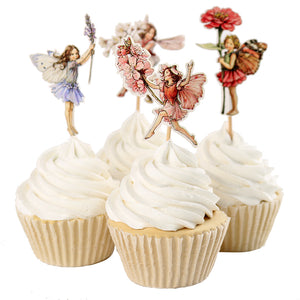 Little Forest Fairy Cupcake Topper 24 Pieces