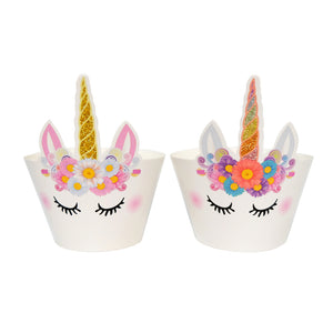 Unicorn Cupcake Wrappers 24 Pieces