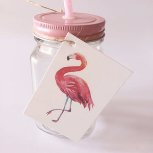 Flamingo Bird Gift Tags 50 Pieces