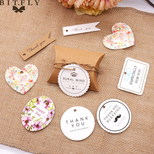 Vintage Wedding Party Tags 50 Pieces