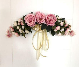 Beautiful Artificial Silk Flowers Wedding Wreath