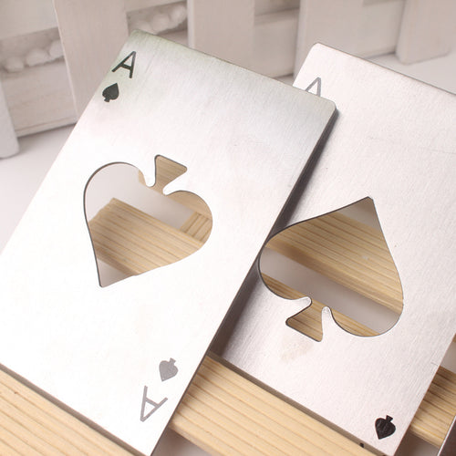 Playing Card Bottle Opener Wedding Favor