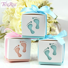 Baby Footprint Laser Cut Baby Shower Baptism Christening Candy Box 10 Pieces