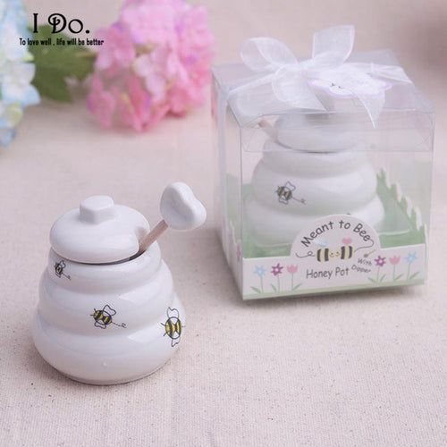 Ceramic Meant to Bee Honey Jar Wedding Favor