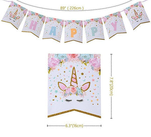 Glitter Unicorn Birthday Banner
