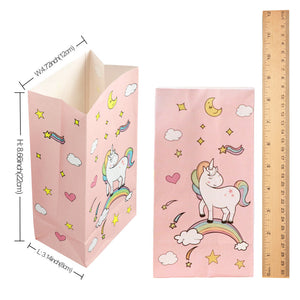 Unicorn Paper Gift Bags 12 Pieces