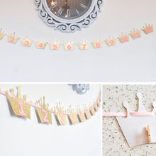 1 to 12 Baby Shower Photo Banner 1 Set
