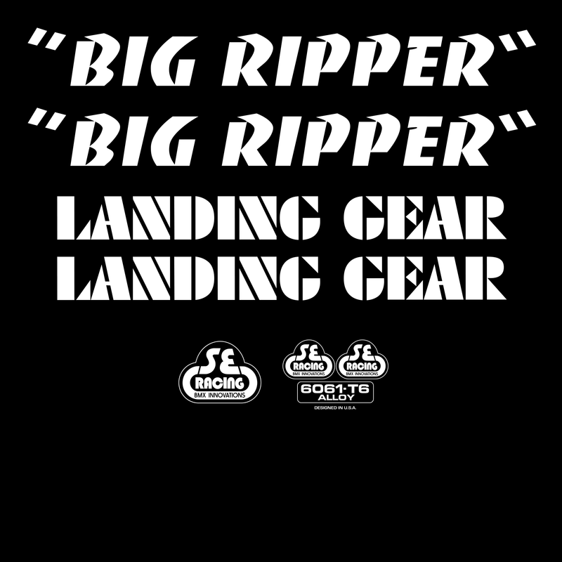 Big Ripper Decal Set