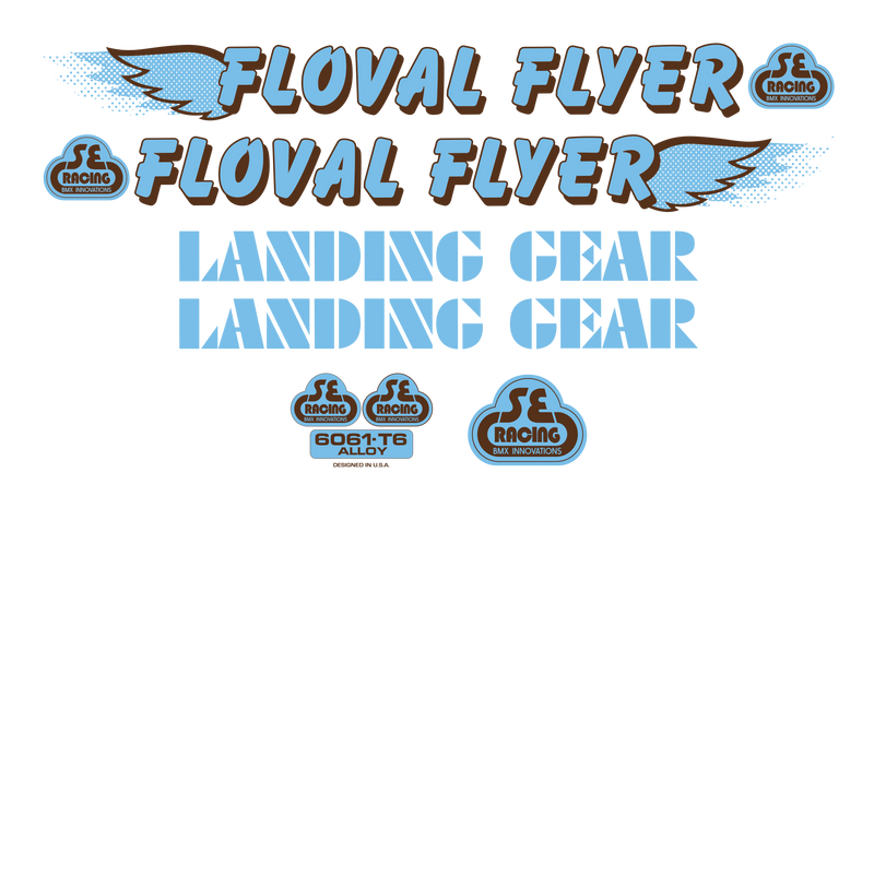 Floval Flyer Decal Set